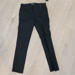 Hurley Men's Icon Stretch Chino Pants Black 31 NWT